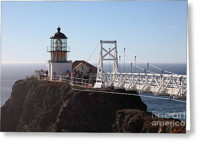 Bonita Point Greeting Cards - Point Bonita Lighthouse in The Marin Headlands - 5D19697 Greeting Card by Wingsdomain Art and Photography