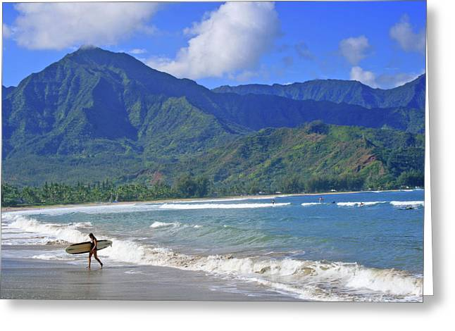 Surfer Girl Greeting Cards - Point Break Greeting Card by Scott Mahon