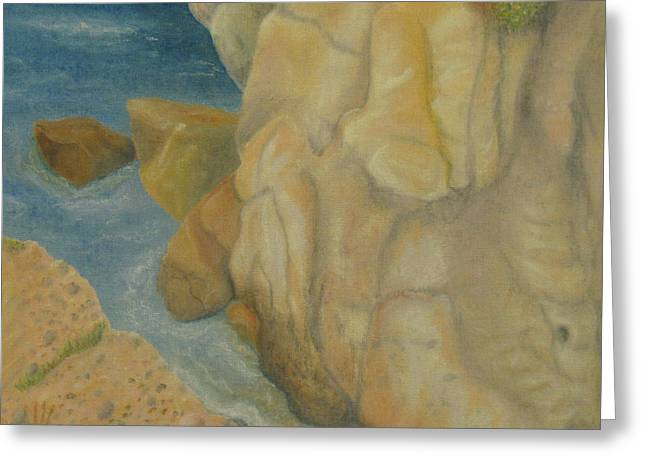 Big Sur California Pastels Greeting Cards - Point Lobos 3 Greeting Card by Marcia  Perry
