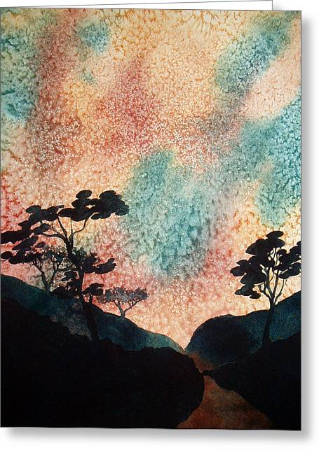 Point Lobos Greeting Cards - Point lobos electric sky Greeting Card by Scott Mulholland
