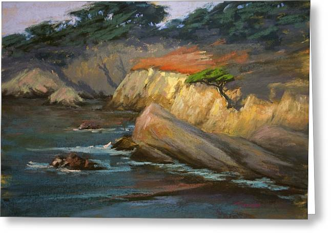 Point Lobos Greeting Cards - Point Lobos Last Light Greeting Card by Timon Sloane