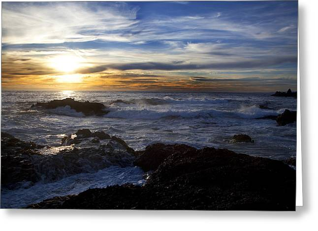 Point Lobos Greeting Cards - Point Lobos Sunset  Greeting Card by Jeff Grabert