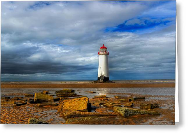 point of ayr beach Greeting Card by Adrian Evans
