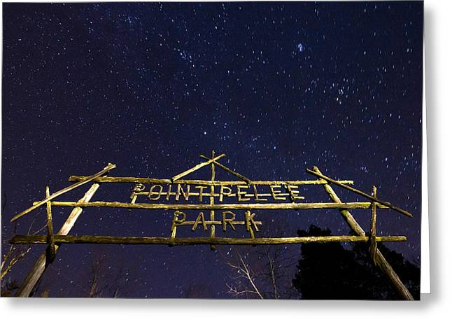Star Points Greeting Cards - Point Pelee Under the Stars Greeting Card by Cale Best