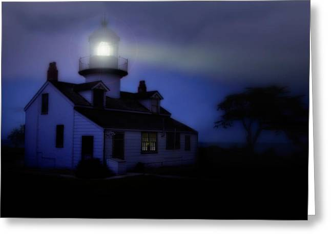 Helpful Greeting Cards - Point Pinos Lighthouse Greeting Card by Utah Images