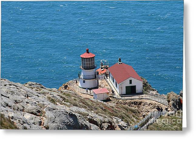 Pt Reyes Greeting Cards - Point Reyes Lighthouse in California 7D15974 Greeting Card by Wingsdomain Art and Photography