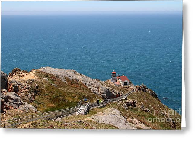 Pt Reyes Greeting Cards - Point Reyes Lighthouse in California 7D15976 Greeting Card by Wingsdomain Art and Photography