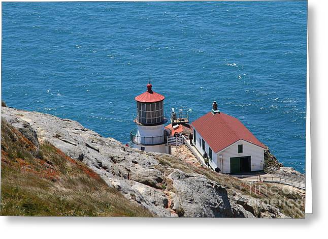 Pt Reyes Greeting Cards - Point Reyes Lighthouse in California 7D15980 Greeting Card by Wingsdomain Art and Photography