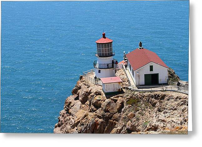 Pt Reyes Greeting Cards - Point Reyes Lighthouse in California 7D15988 Greeting Card by Wingsdomain Art and Photography