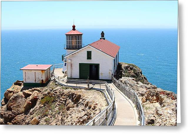 Pt Reyes Greeting Cards - Point Reyes Lighthouse in California 7D15996 Greeting Card by Wingsdomain Art and Photography