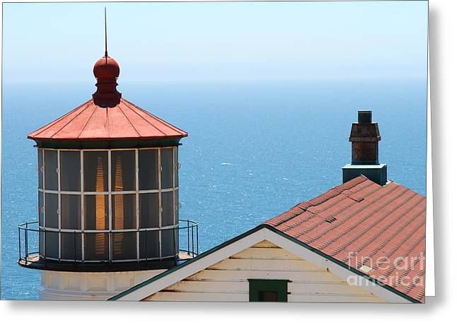 Pt Reyes Greeting Cards - Point Reyes Lighthouse in California 7D16013 Greeting Card by Wingsdomain Art and Photography