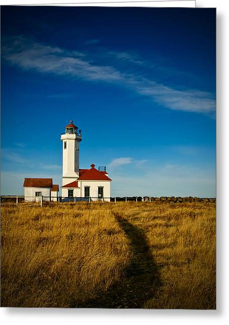 Juan De Fuca Greeting Cards - Point Wilson Lighthouse Greeting Card by Dan Mihai