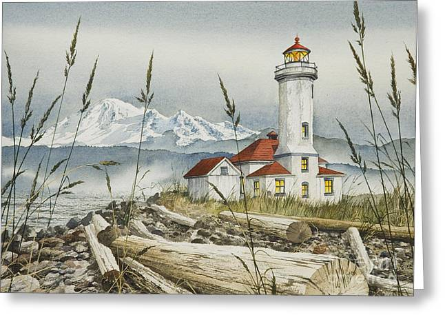 Pacific Northwest Greeting Cards - Point Wilson Lighthouse Greeting Card by James Williamson