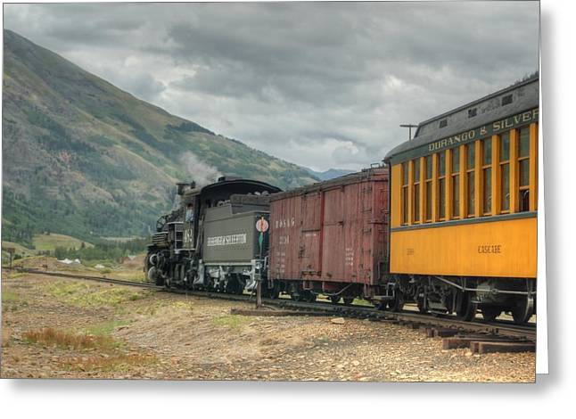 Narrow Gauge Steam Train Greeting Cards - Pointing towards Silverton Greeting Card by Ken Smith