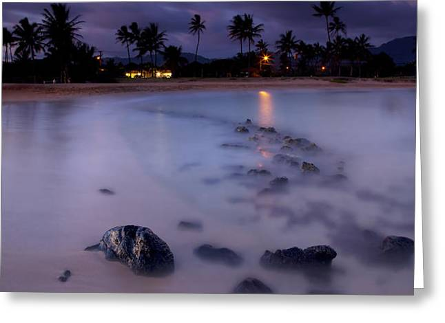 Poipu Evening Storm Greeting Card by Mike  Dawson