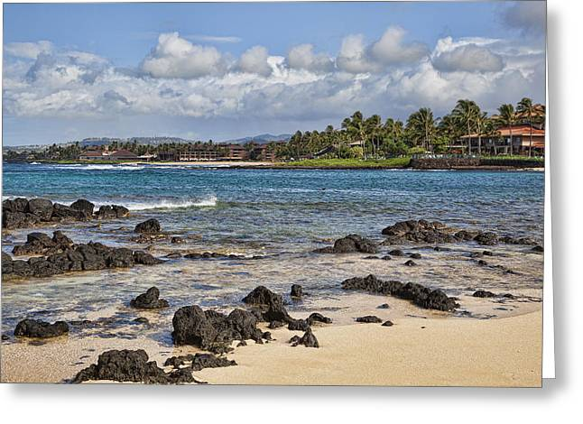 Poipu Greeting Cards - Poipu Shores Greeting Card by Kelley King