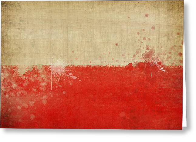 Euro 2012 Greeting Cards - Poland flag  Greeting Card by Setsiri Silapasuwanchai