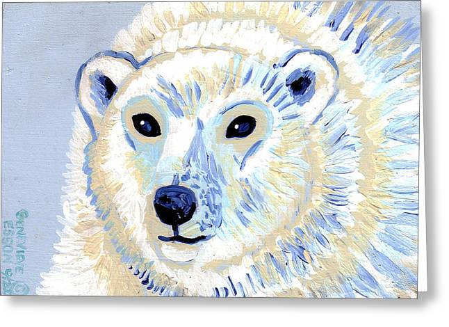 Alaska Greeting Cards Greeting Cards - Polar Bear Greeting Card by Genevieve Esson