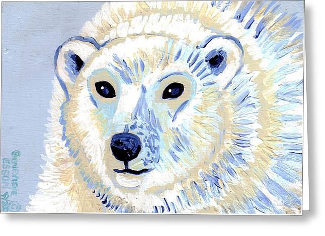 Polar Bear Greeting Card by Genevieve Esson