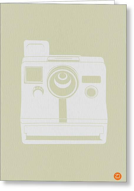 Dwell Digital Art Greeting Cards - Polaroid Camera 2 Greeting Card by Naxart Studio