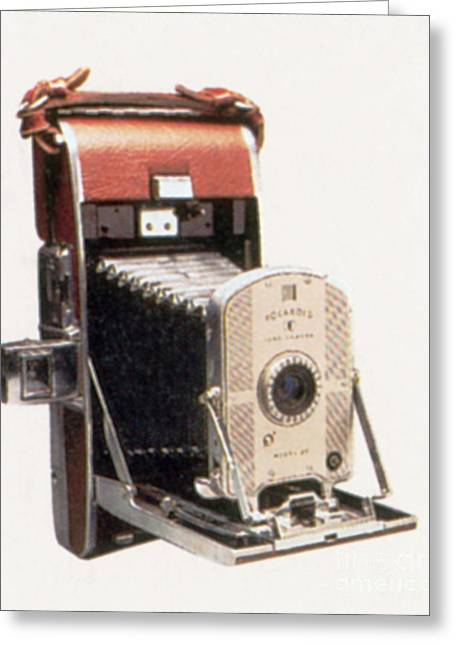 Instant Camera Greeting Cards - Polaroid Land Camera, Circa 1947 Greeting Card by Photo Researchers