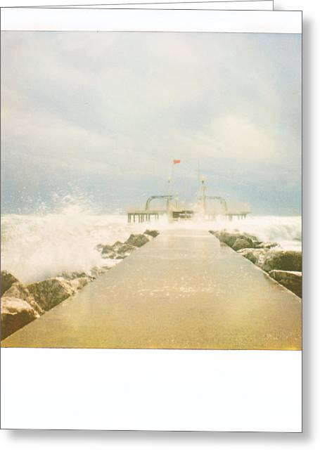 Italian Landscapes Pyrography Greeting Cards - Polaroid Venice Greeting Card by Antonietta Pics