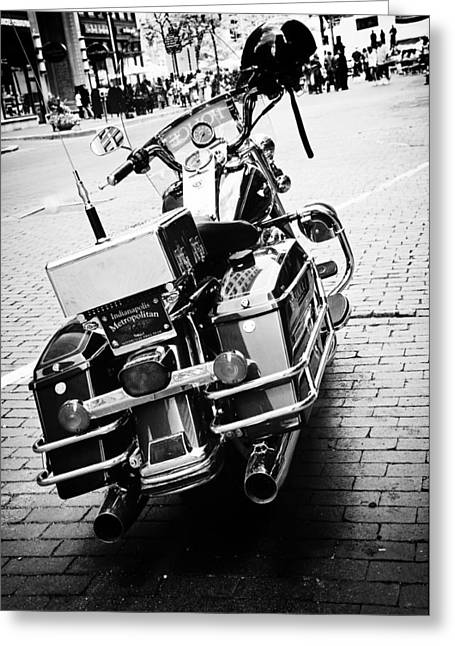Police Motorcycles Greeting Cards - Police Bike Greeting Card by Off The Beaten Path Photography - Andrew Alexander