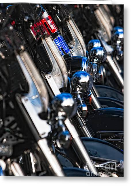Police Motorcycles Greeting Cards - Police Motorcycles Greeting Card by Doug Sturgess