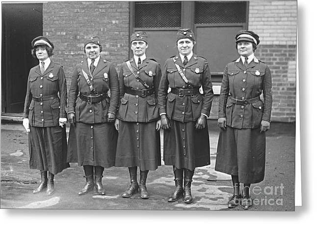 Policewoman Greeting Cards - Policewomen Greeting Card by Padre Art