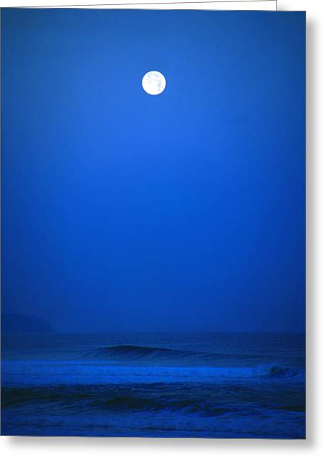Moon Beach Greeting Cards - Polihale Moon Greeting Card by Kevin Smith