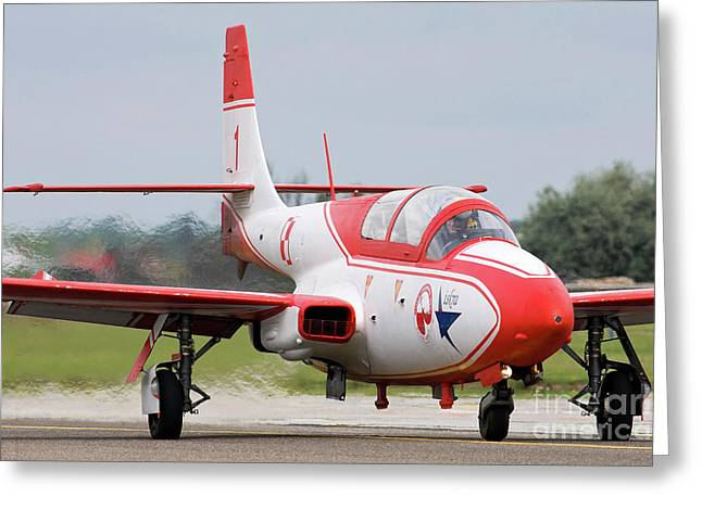 Ts Greeting Cards - Polish Air Force Ts-11 Iskra Jet Greeting Card by Anton Balakchiev