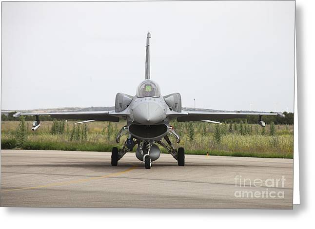 Atp Photographs Greeting Cards - Polish F-16c Block 52 At Albacete Greeting Card by Timm Ziegenthaler