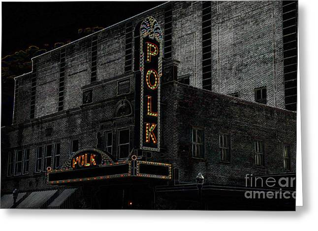 1950s Movies Greeting Cards - Polk Movie House Greeting Card by David Lee Thompson
