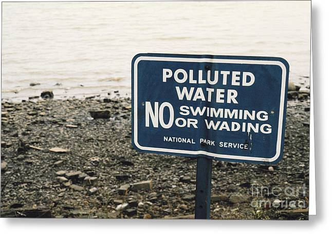 Public Health Greeting Cards - Polluted Potomac River Greeting Card by Roger A. Clark