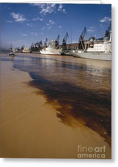 Polluted Water, Rio De La Plata Greeting Card by Bernard Wolff