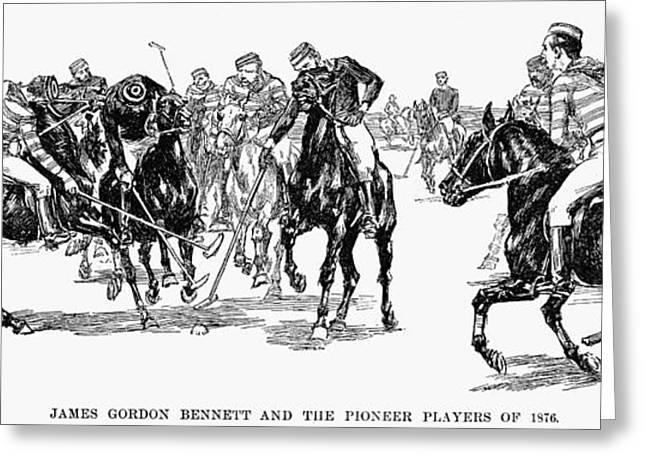 1876 Greeting Cards - Polo, 1876 Greeting Card by Granger