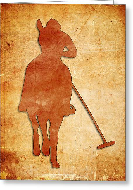 Equestrian Prints Digital Greeting Cards - Polo Greeting Card by Ricky Barnard