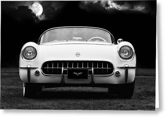 Moon Digital Art Greeting Cards - Polo White Night Greeting Card by Peter Chilelli