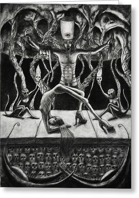 Sacrificial Drawings Greeting Cards - Polydactactyl Lust Greeting Card by Casey Wade