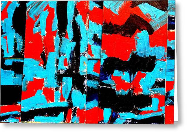 Layer Paintings Greeting Cards - Polyptych   II Greeting Card by John  Nolan