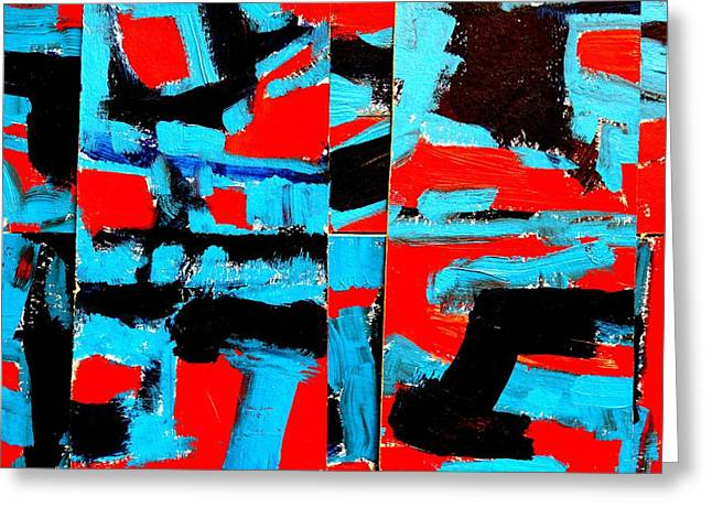 Layer Paintings Greeting Cards - Polytych  III Greeting Card by John  Nolan