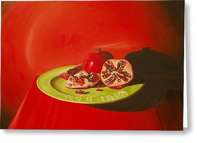 Thomas Faires Greeting Cards - Pomegranates Greeting Card by Thomas Faires