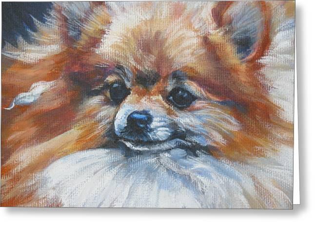 Pomeranian Greeting Cards - Pomeranian Greeting Card by Lee Ann Shepard