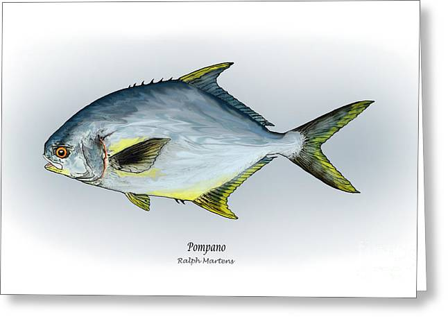 Sportfishing Greeting Cards - Pompano Greeting Card by Ralph Martens