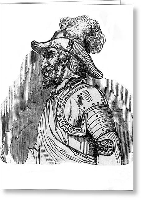 Ponce De Leon, Spanish Explorer Greeting Card by Photo Researchers