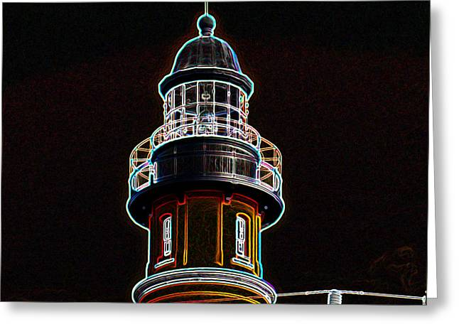 Spiral Staircase Mixed Media Greeting Cards - Ponce Inlet Lighthouse Greeting Card by Dennis Dugan