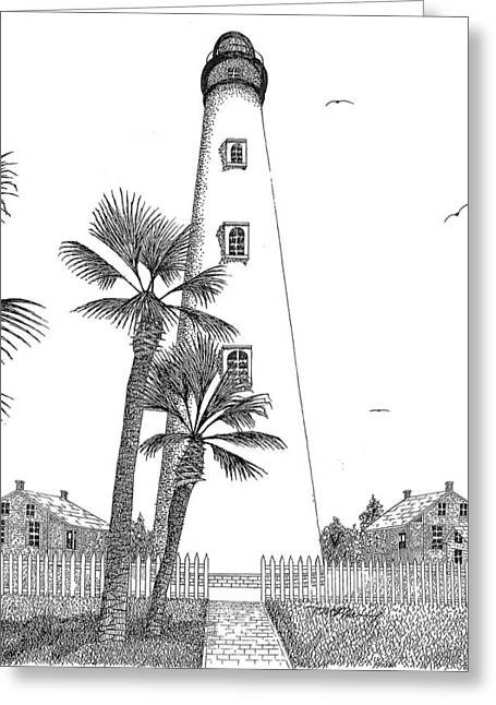 Ponce Inlet Lighthouse Greeting Card by Tim Murray