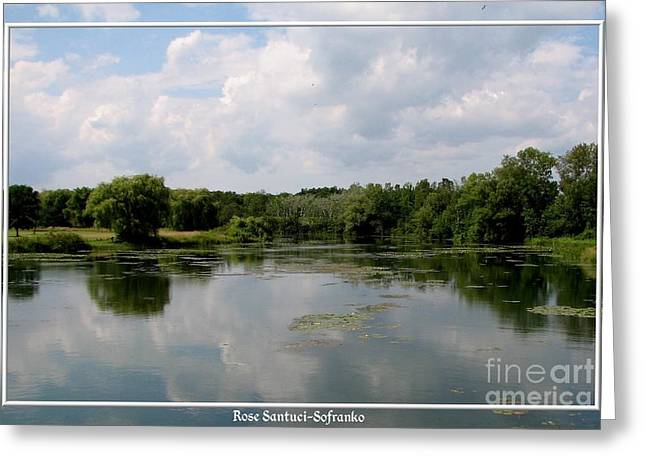 Sofranko Greeting Cards - Pond at Beaver Island State Park in New York Greeting Card by Rose Santuci-Sofranko