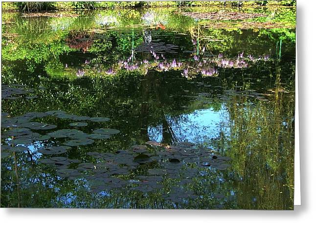 Water Lilly Greeting Cards - Pond at Giverny2 Greeting Card by Danny Cieloha