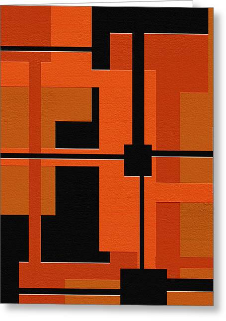 Geometrical Art Digital Art Greeting Cards - Ponder Greeting Card by Ely Arsha